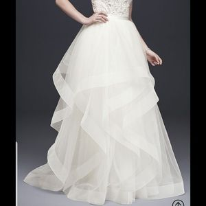 Tiered Tulle Ball Gown Wedding Skirt  12 David's